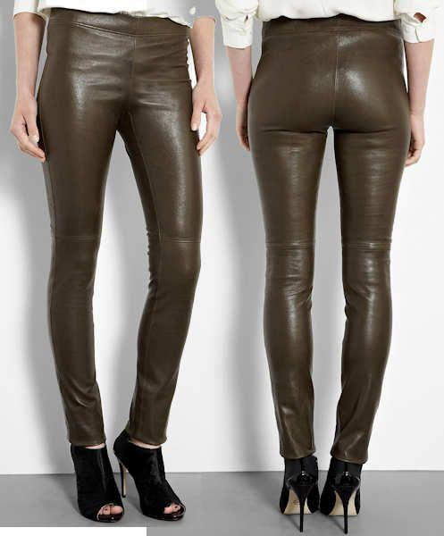 848f0f6e4a795 Joseph Olive Stretch Leather Leggings | Jeans | Leather leggings ...