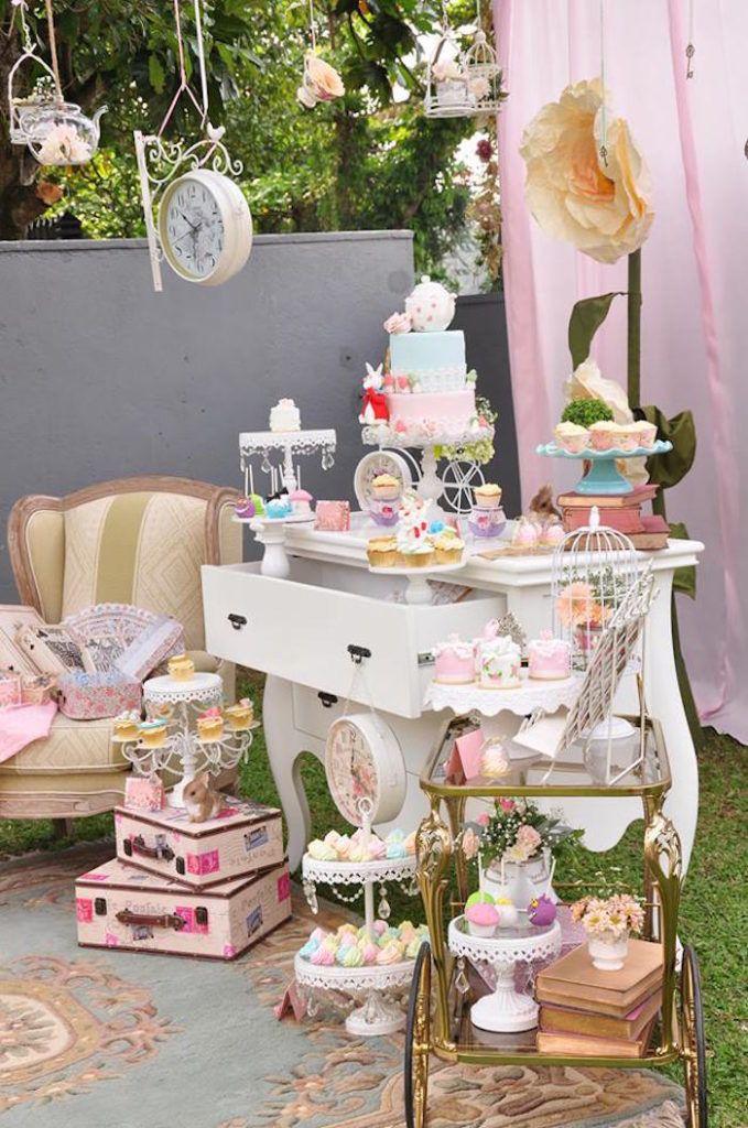 Vintage Alice in Wonderland Birthday Party on