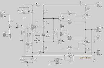 140W Power Amplifier Circuit TIP3055 TIP2955 Circuit