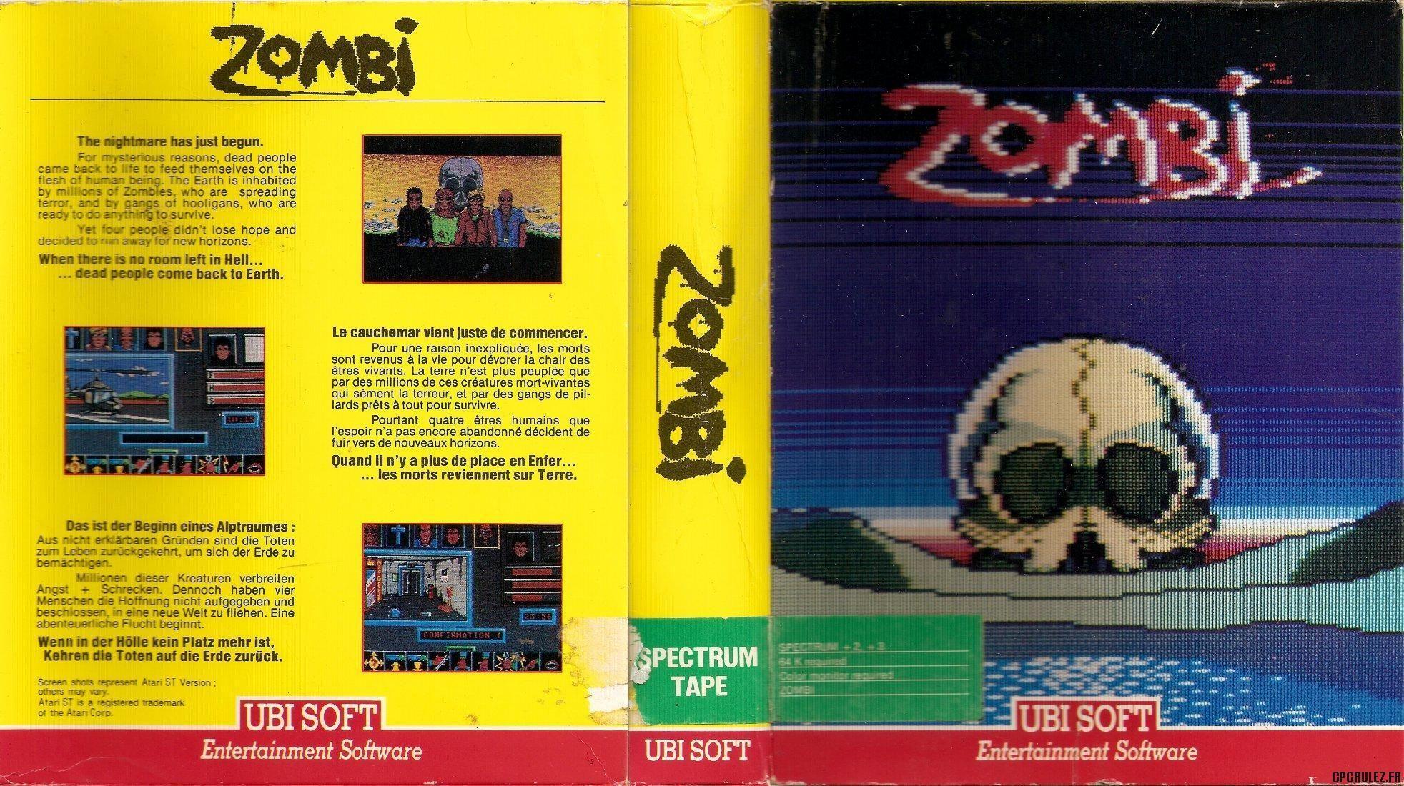 Zombi 1986 Ubisoft Entertaining Playbill