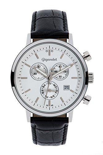 Nuova offerta in #orologio : Gigandet Classico Orologio Uomo Cronografo Analogico Quartz Nero Bianco G6-001 a soli 6335 EUR. Affrettati! hai tempo solo fino a 2016-11-02 23:35:00