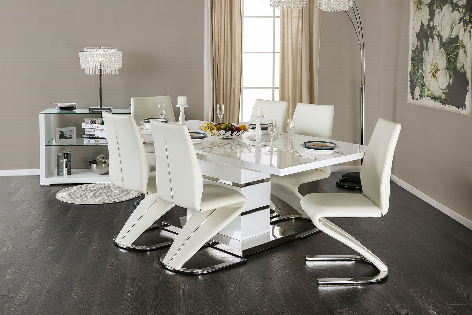 Midvale Contemporary Dining Table Set  Contemporary Dining Table Endearing White Contemporary Dining Room Sets Design Decoration
