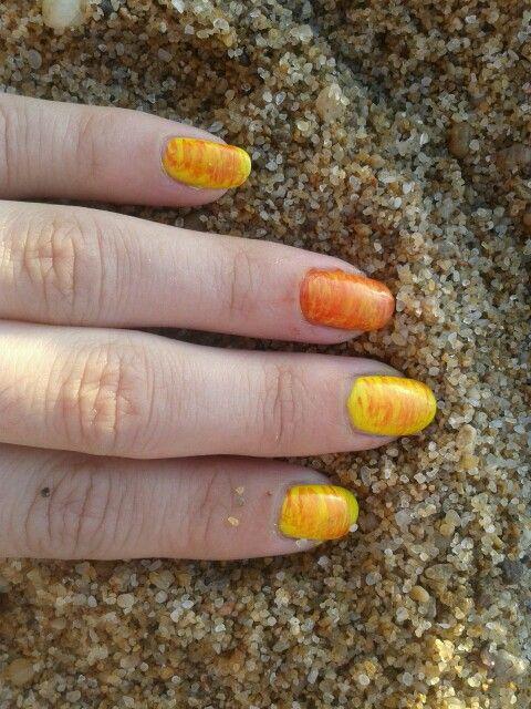 Mis uñas playeras!