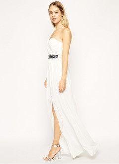 Sheath/Column Strapless Sweetheart Floor-Length Chiffon Evening Dress With Ruffle Beading