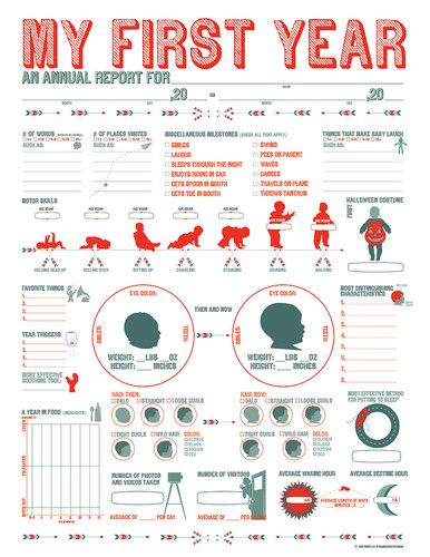 A fill in the blanks infographic for tracking your baby s first year