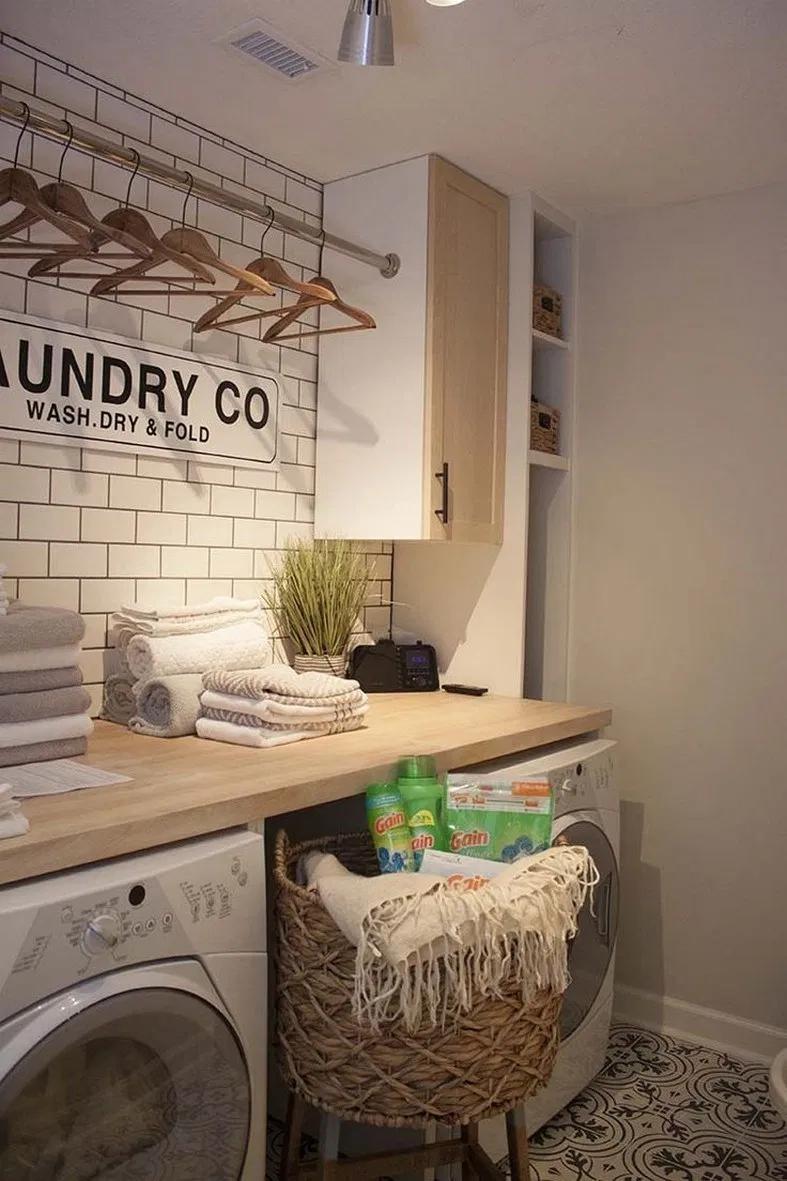 Photo of #laundryroomorganization