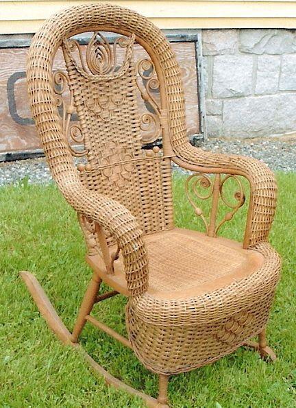 Wicker Rocker Chaise Bercante Idee Deco Maison Fauteuil A Bascule