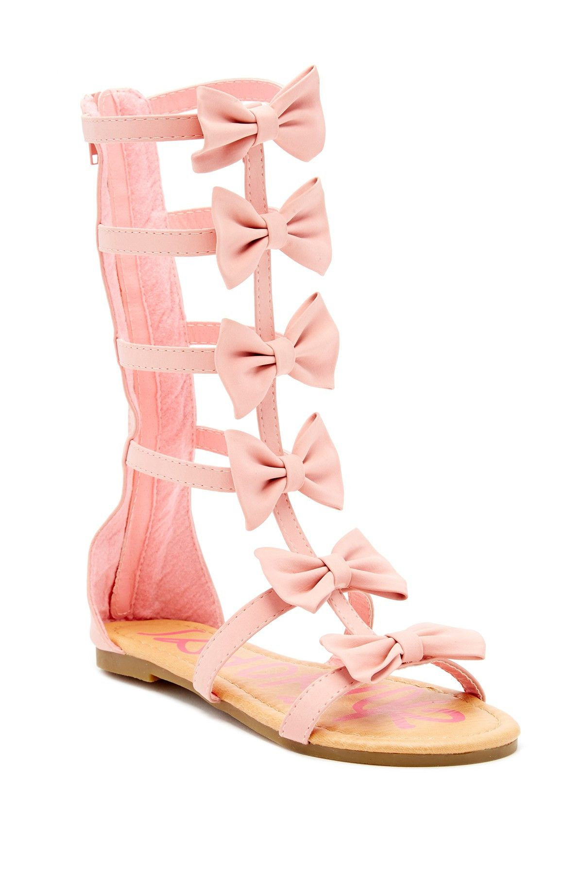 Yoki | Suzette Bow Gladiator Sandal (Toddler, Little Kid, & Big Kid) | Nordstrom Rack