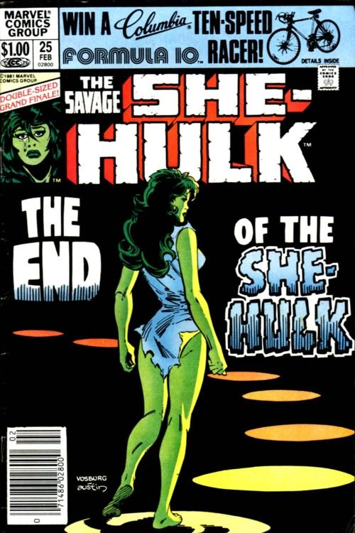 The end of the She-Hulk. Art by Mike Vosburg and Terry Austin.