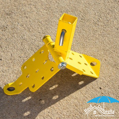 Corner Ridge Bases Are Used To Support Ridge Telescoping Posts At The Ridge Corners They Are Hinged To Accommodate Varying Roof Roof Restoration Roof Umbrella