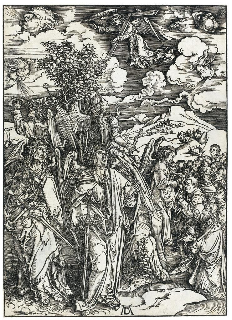 Albrecht Durer (1471-1528) The Four Angels Holding The Winds, From: The Apocalypse (393 x 285 mm)