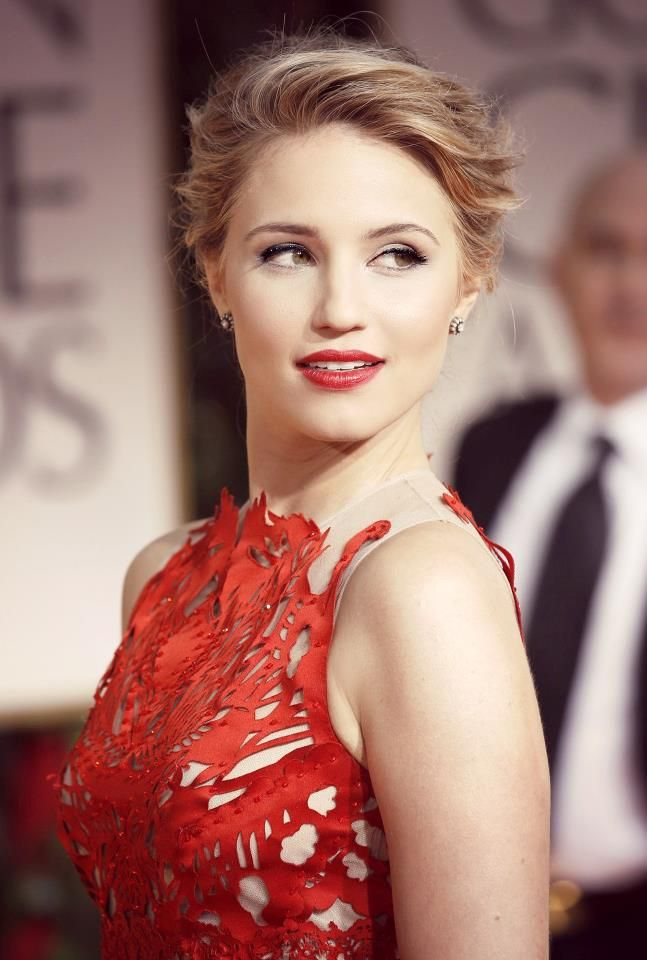 Dianna Agron Classy Makeup Red Lips Done Right