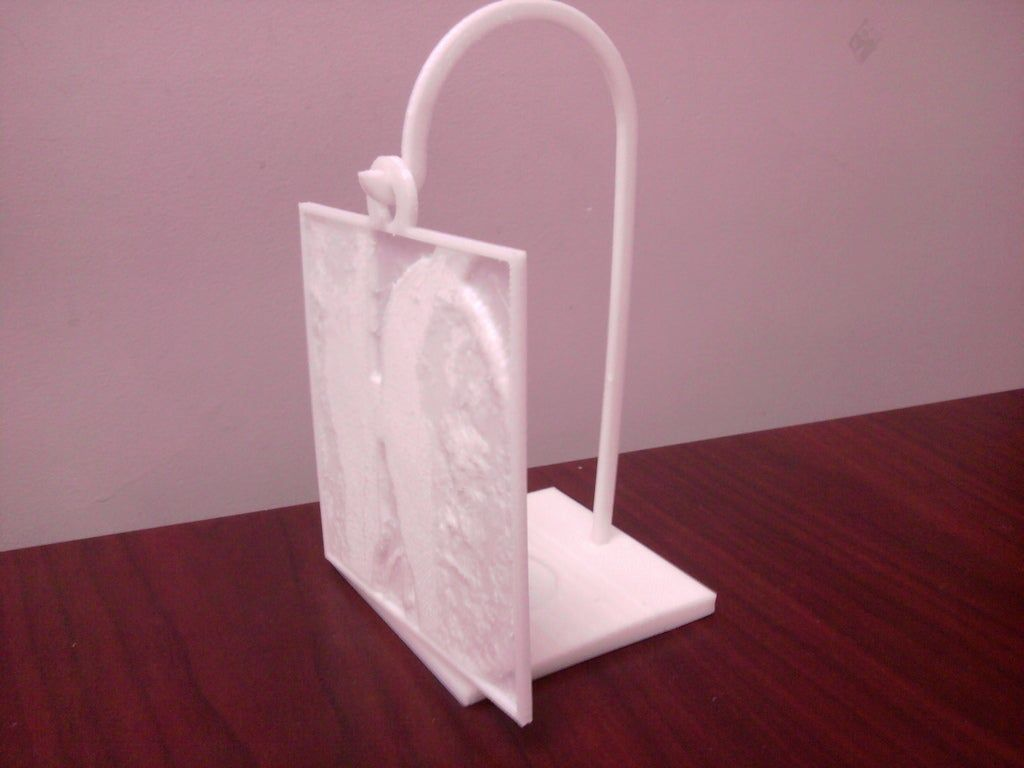 Lithopane Hanger With Tealight Holder By Joshcube Thingiverse Tea Light Holder Tea Lights Hanger