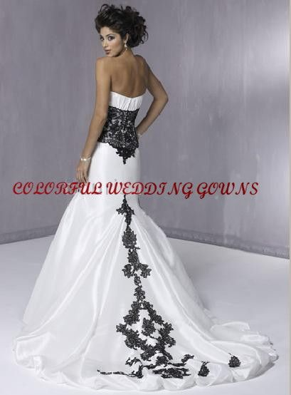 Corset Trumpet Style Bridal Gown Corset Style Top Mermaid Trumpet Wedding Gown Magg Black Lace Wedding Strapless Wedding Dress Mermaid Wedding Dress Train
