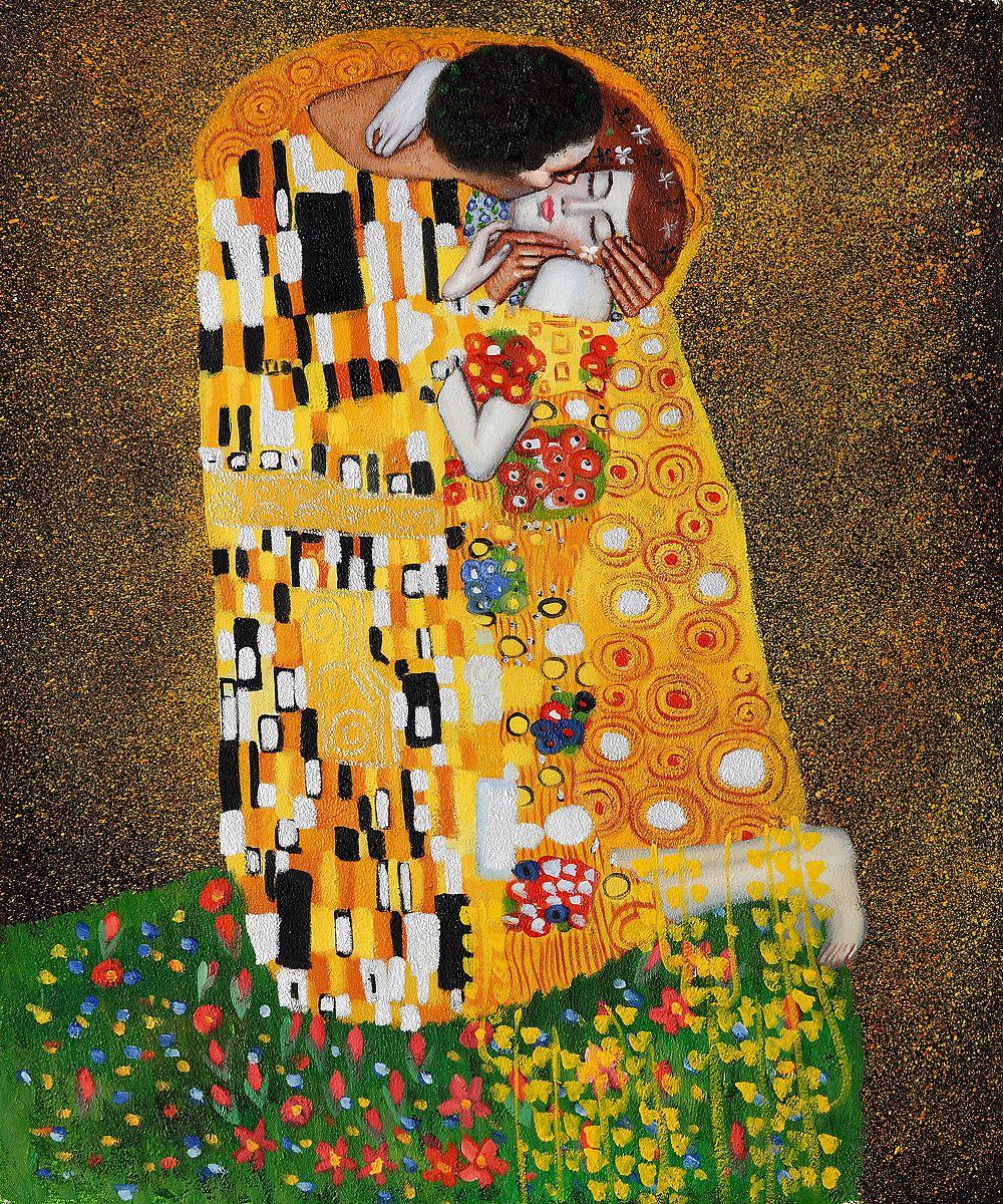 El beso Promocionada como la pintura más famosa de Gustav Klimt, The ...