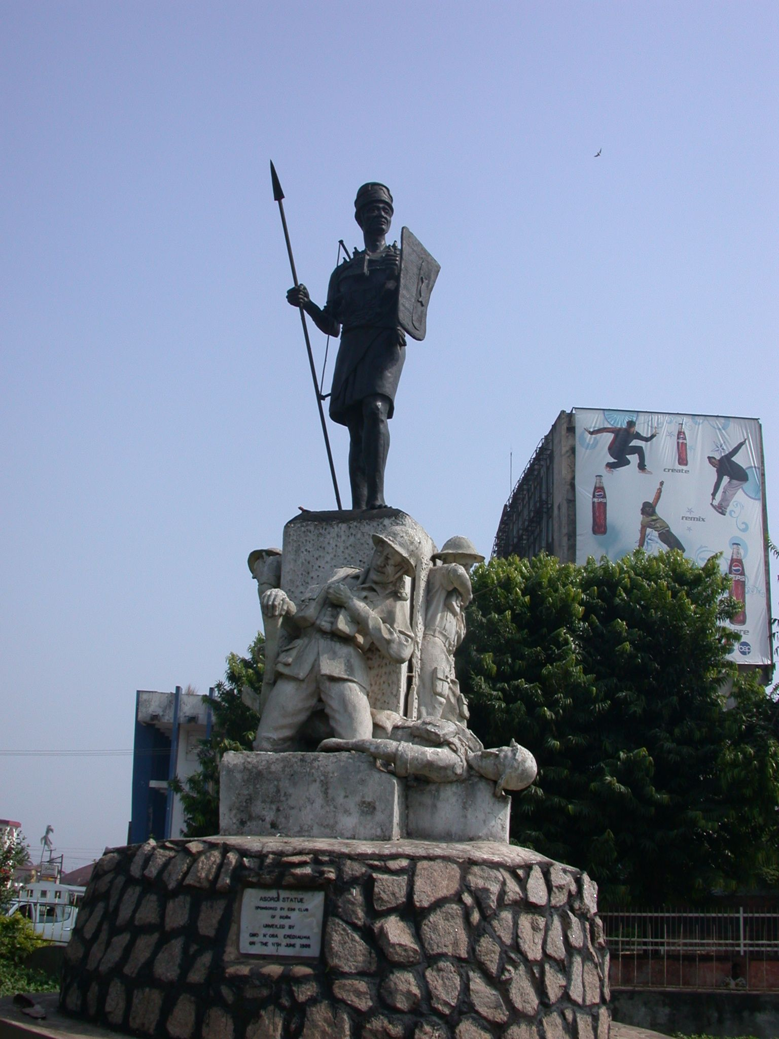 This statue stands in Benin City, Nigeria as a testament to the