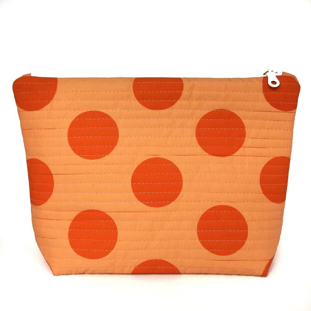 1e9fd840b74f Orange Big Spot Large Makeup Bag | HOUSE of BOTTA | Large makeup bag ...