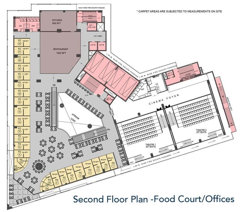 Food court layout senior thesis pinterest