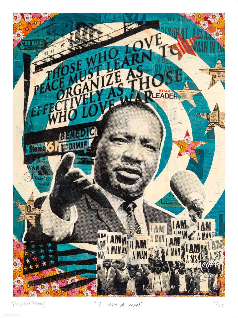 I Am A Man - Martin Luther King Jr. by Robert Mars - Limited Edition, Archival Print