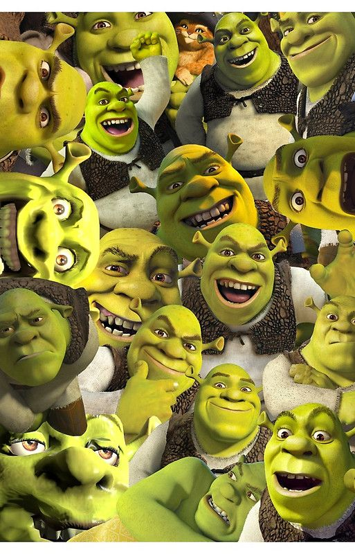 Shrek Collage Iphone Case By Lucy Lier Shrek Shrek