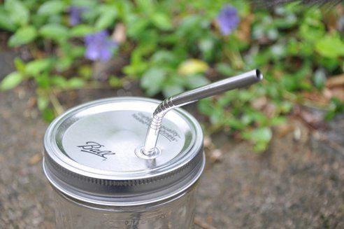 Clever lid/straw for mason jars!