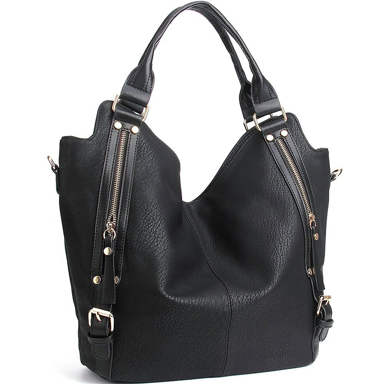 Women/'s Fashion Large Capacity PU Leather Handbag Shoulder Bag Hobo Bag Tote Bag