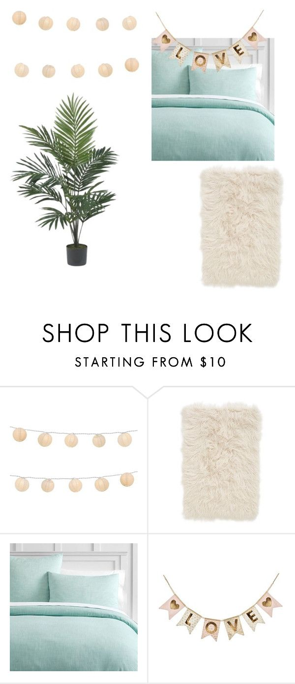 """slaapkamer inspiratie"" by charlottepost ❤ liked on Polyvore featuring interior, interiors, interior design, home, home decor, interior decorating, LumaBase, Nordstrom, PBteen and Nearly Natural"