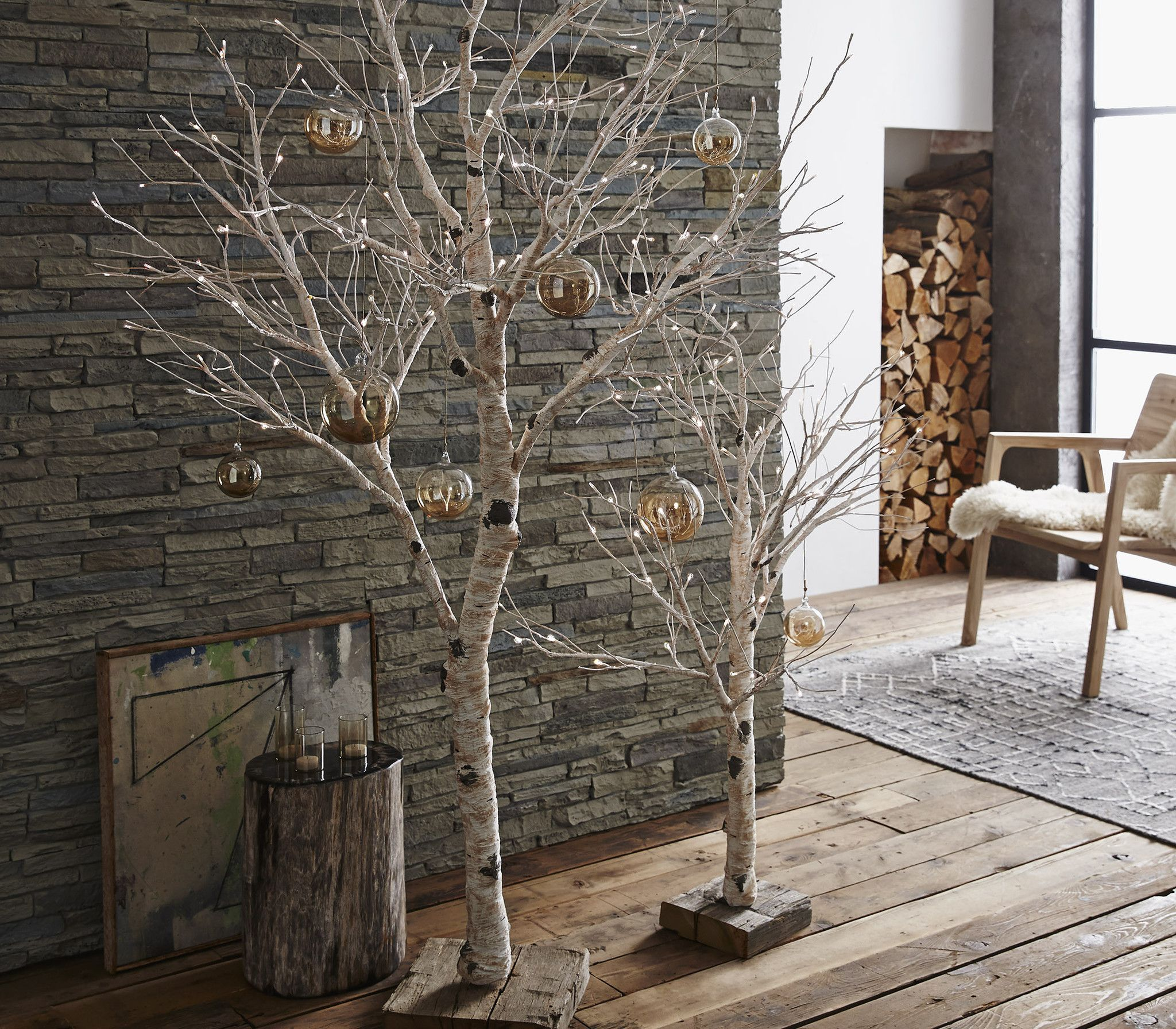 Birch Tree As Decor - Lighted Birch Tree
