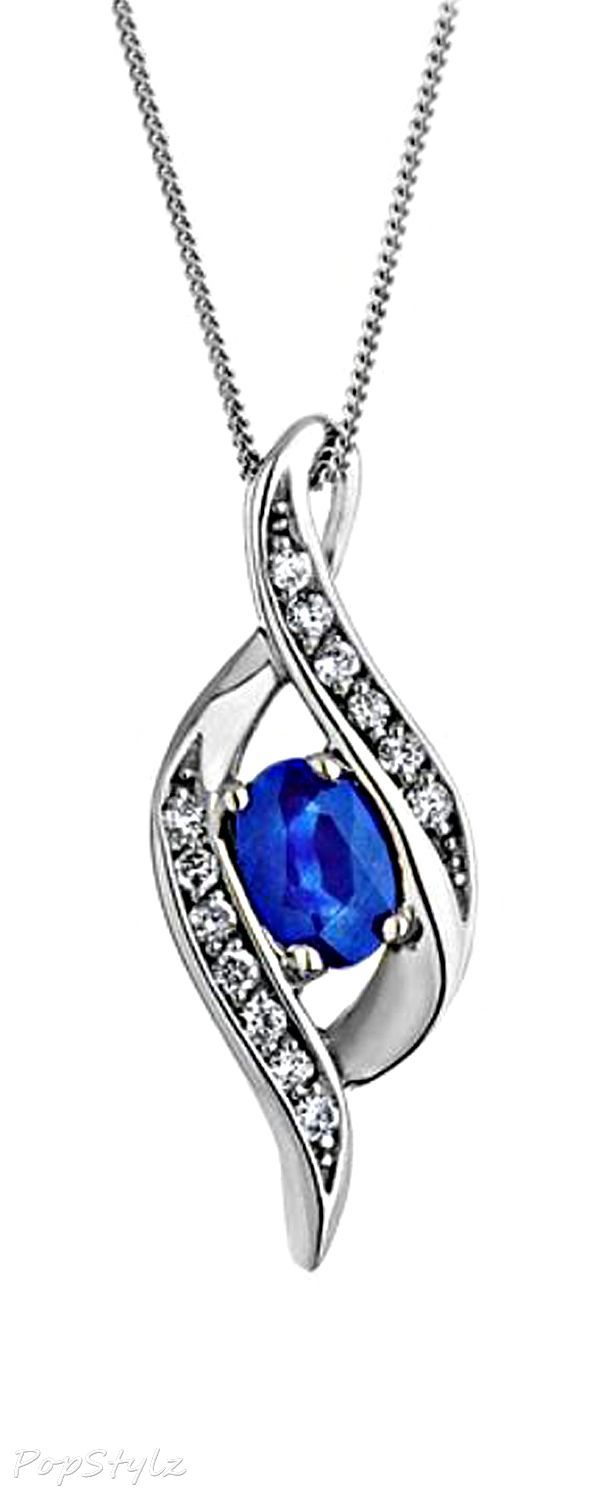 Well-liked Teardrop Necklace Lab-Created Sapphire Sterling Silver   jewel  GY83