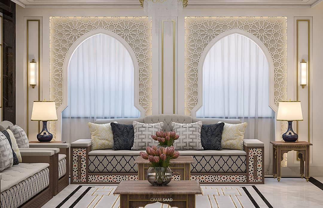 Islamic Dewanyah In Ksa Designed By Omar Saad Ksa Saudiarabia Moroccan Decor Living Room Furniture Design Living Room Sitting Room Interior Design