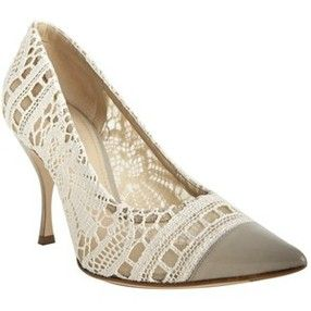 ♥ Dolce and Gabbana - I've seen a similar pair without the pointed solid gray toe.... can't remember where though
