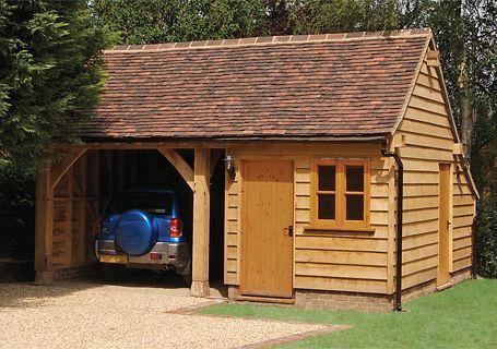 Oak framed garage frame design reviews for Pace motor lines inc
