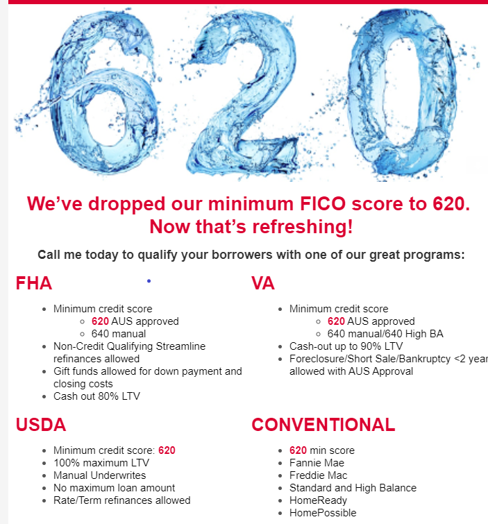 We Ve Dropped Our Minimum Fico Score To 620 For Kentucky Mortgage Loan Approvals In 2020 Mortgage Loans Va Mortgage Loans Mortgage Lenders