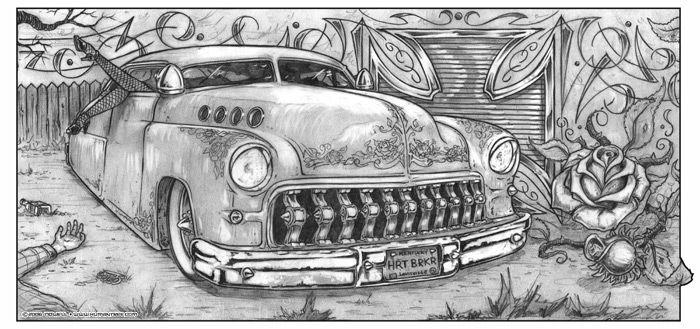 Pencil Drawings Of Semi Trucks Hot Rod Truck Drawings The