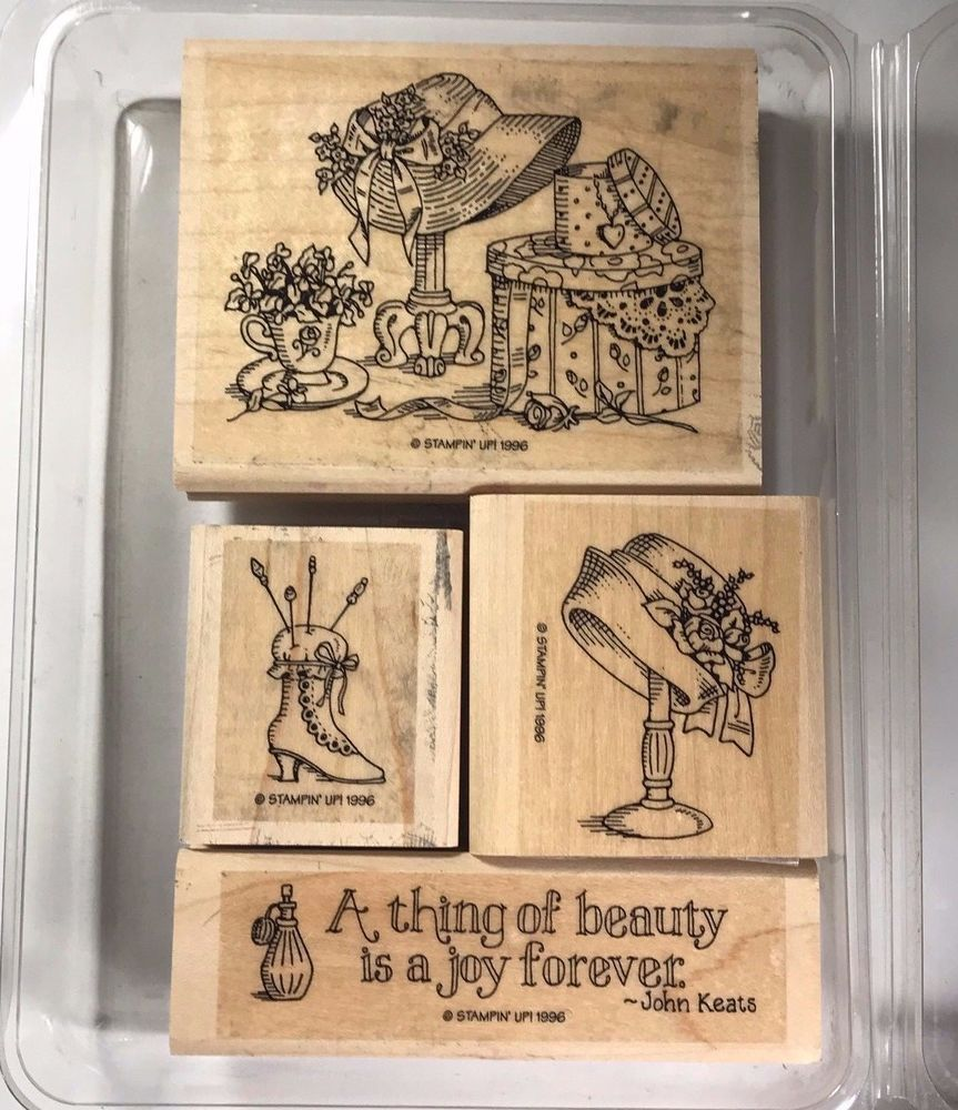 Stampin Up Rubber Stamp Set A Thing Of Beauty Word Phrase John Keat Retired Theme