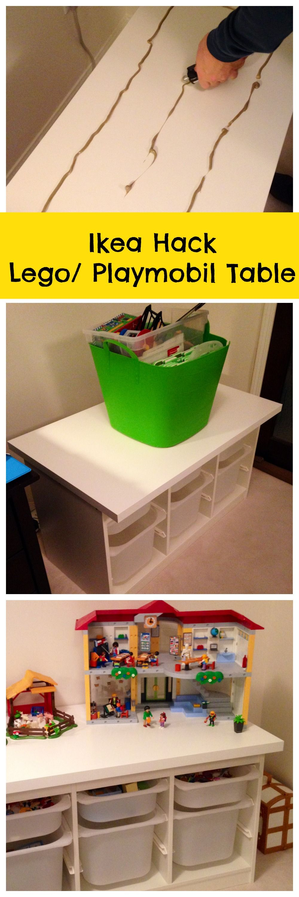 DIY Ikea Lego Table aka The Super Secret Project The Day the Glue