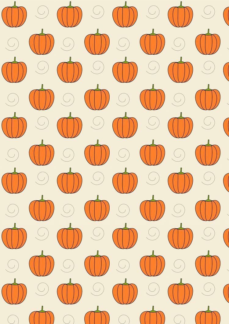 Pumpkin And Swirls Iphone Background Cute Fall Wallpaper Pumpkin Wallpaper Halloween Wallpaper