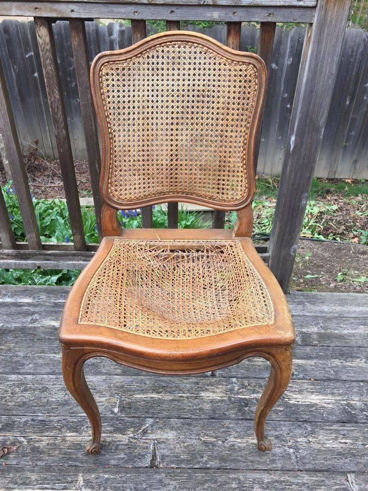 How To Fix Broken Cane Chairs Cane Back Chairs Cane Chair Cane Chair Makeover