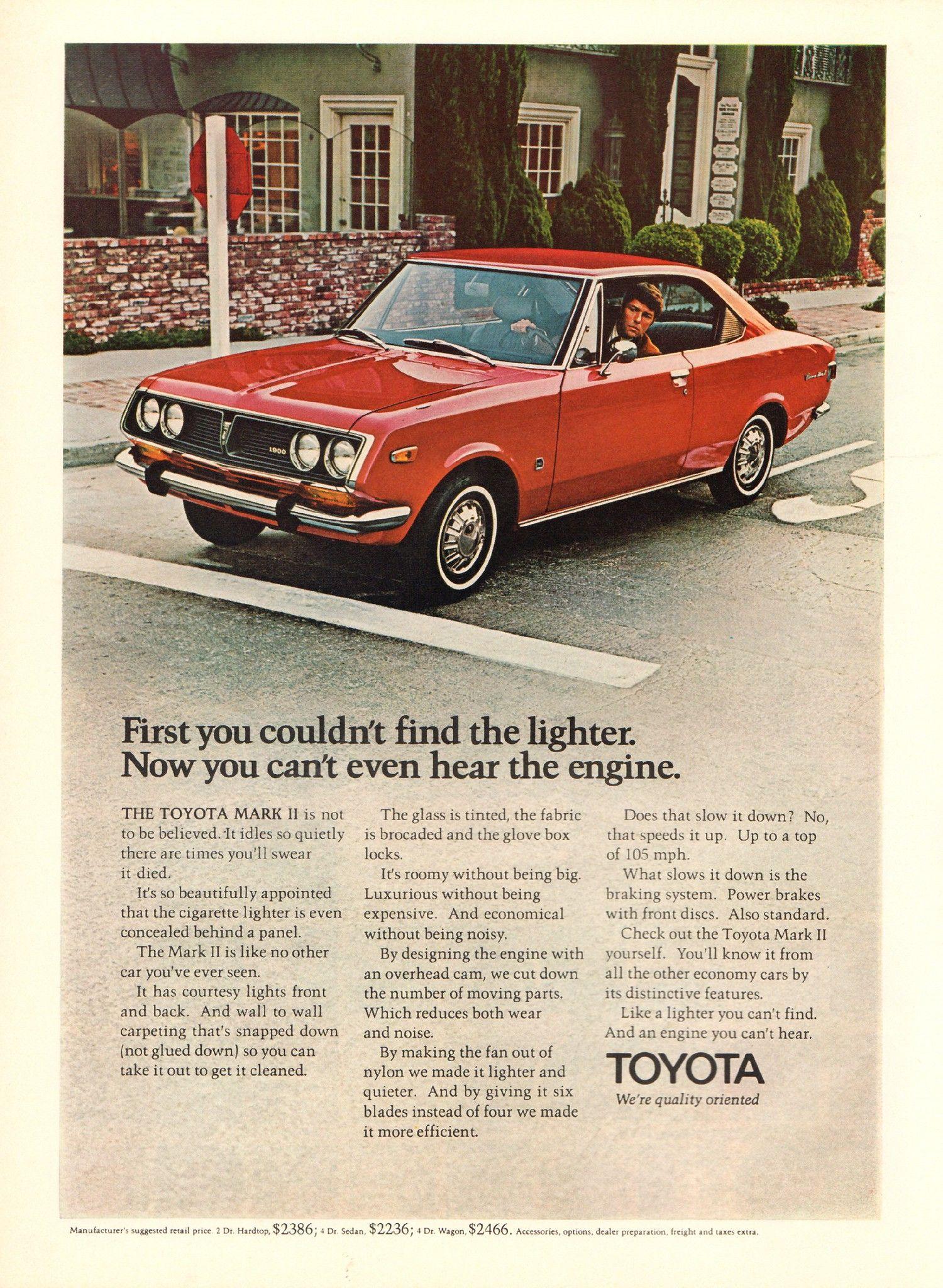 1971 Toyota Mark Ii Advertisement Playboy February 1971 With