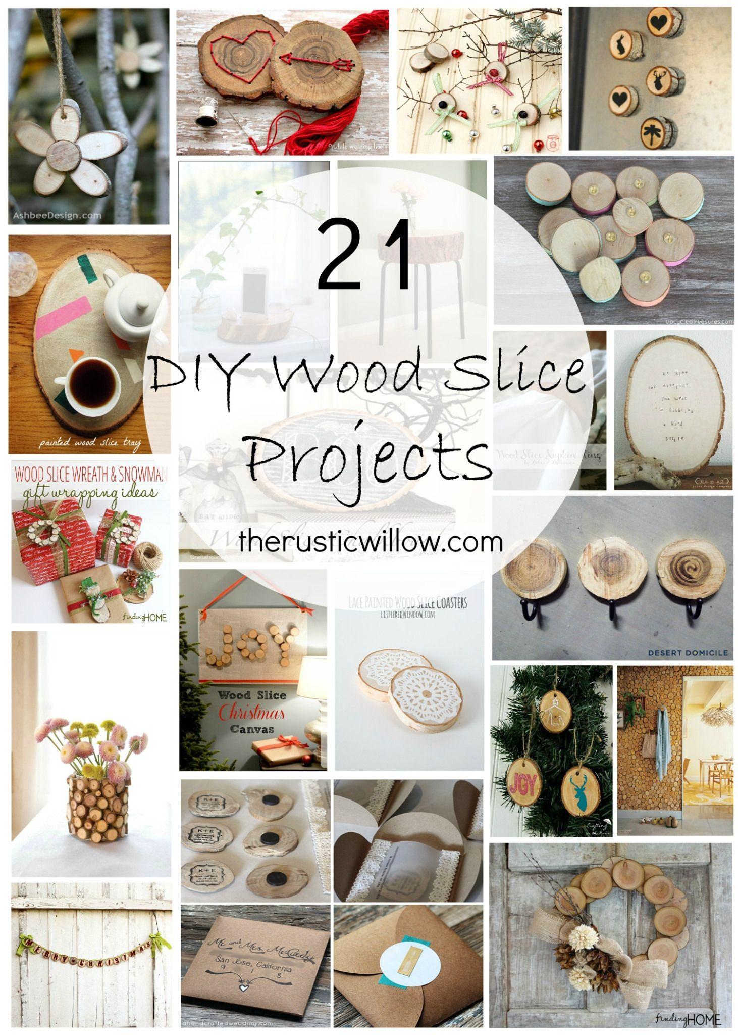 Diy wood slice roundup diy wood projects wood slice