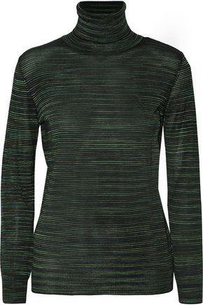 M Missoni Striped Wool-Blend Turtleneck Sweater
