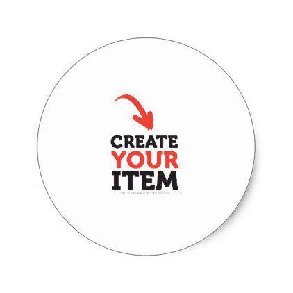 Create your own diy custom upload wedding design classic round sticker