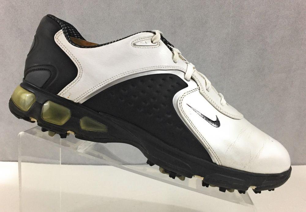 Nike Air Max Rejuvenate Mens White & Black Soft Cleat Golf