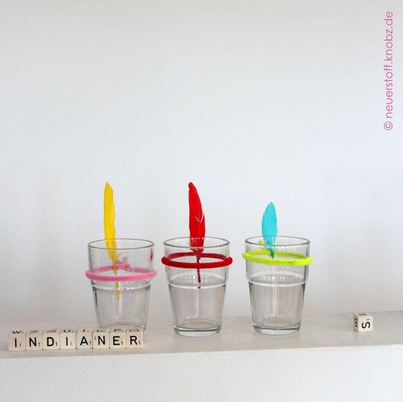 glas als indianer für kindergeburtstag - diy | kindergeburtstag, Einladungsentwurf