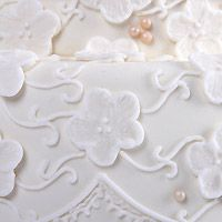 Vintage love wedding cake