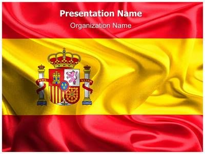 National Flag Spain Powerpoint Template Is One Of The Best