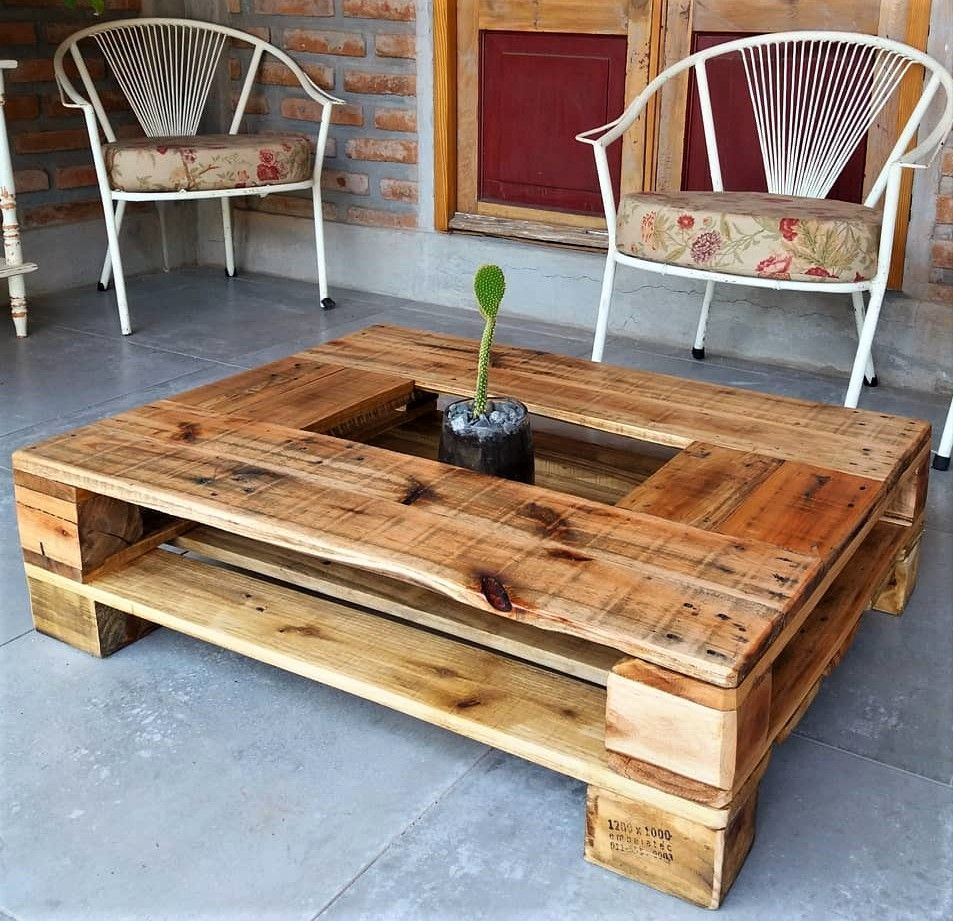 Pallets Wooden Made Table Wooden Pallet Furniture Wood Table Diy Wood Pallet Projects [ 921 x 953 Pixel ]