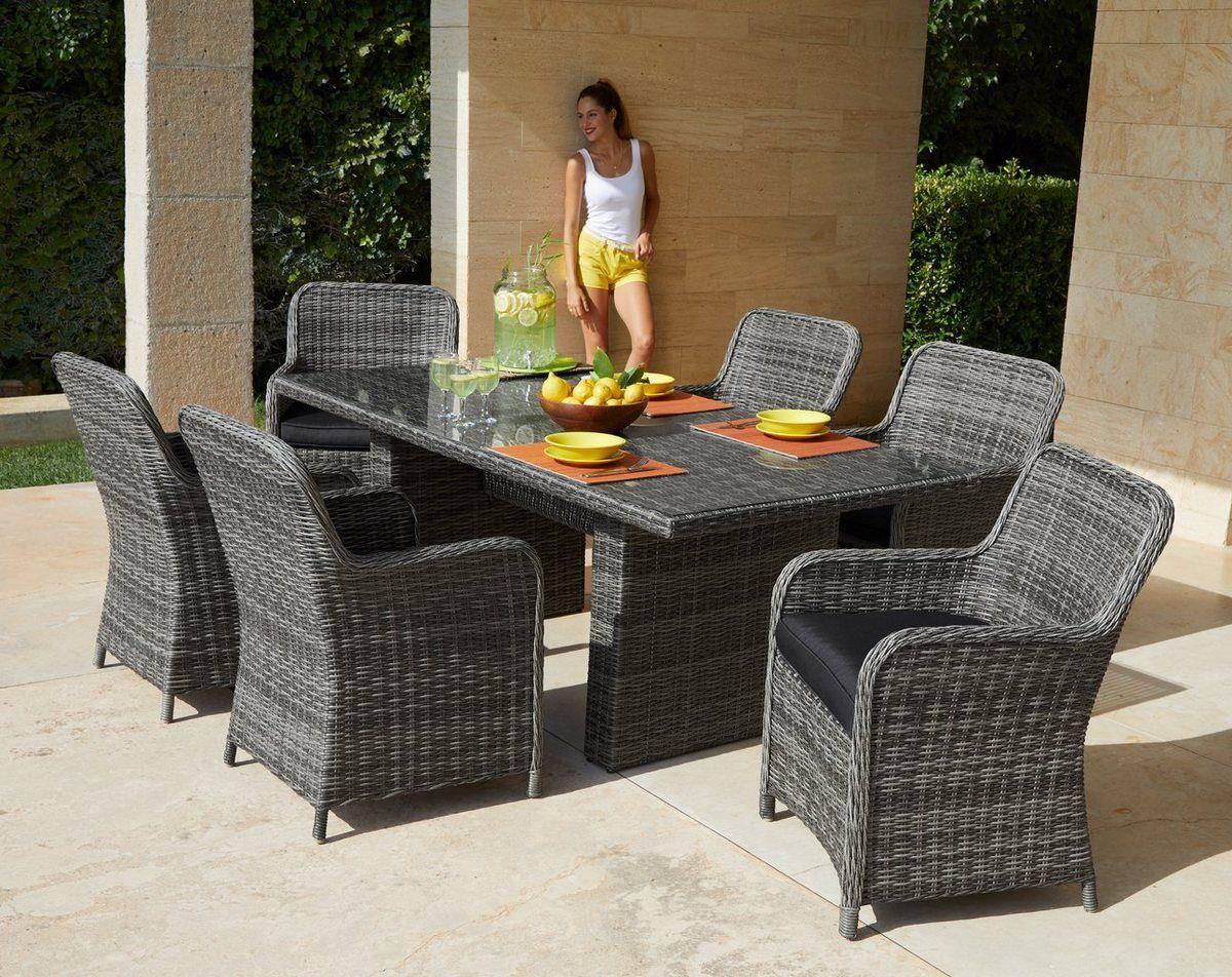 Gartenmobelset Florenz 13 Tlg 6 Sessel Tisch 200x100 Cm