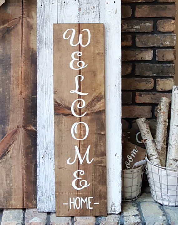 Large Welcome Home Sign, Front Porch Sign, Front Door Sign ...