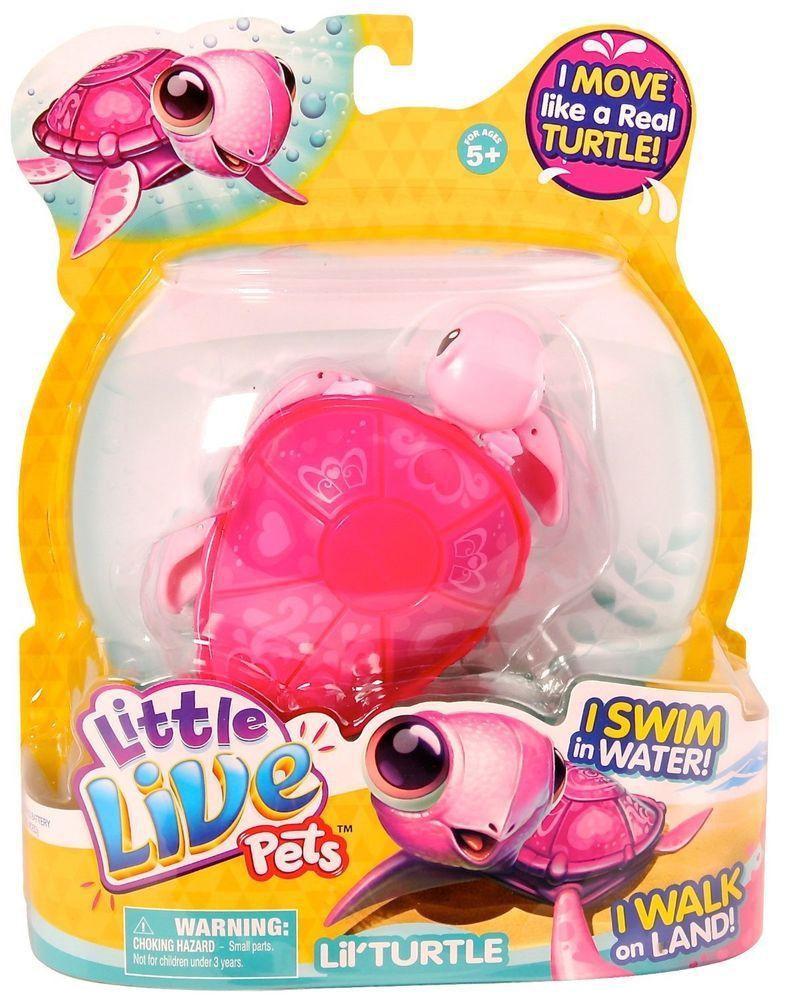 Little Live Pets Lil Turtle Tenda Pink Turtle Littlelivepets